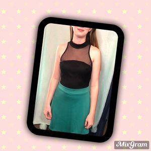 Charlotte Russe Med sheer top color block dress